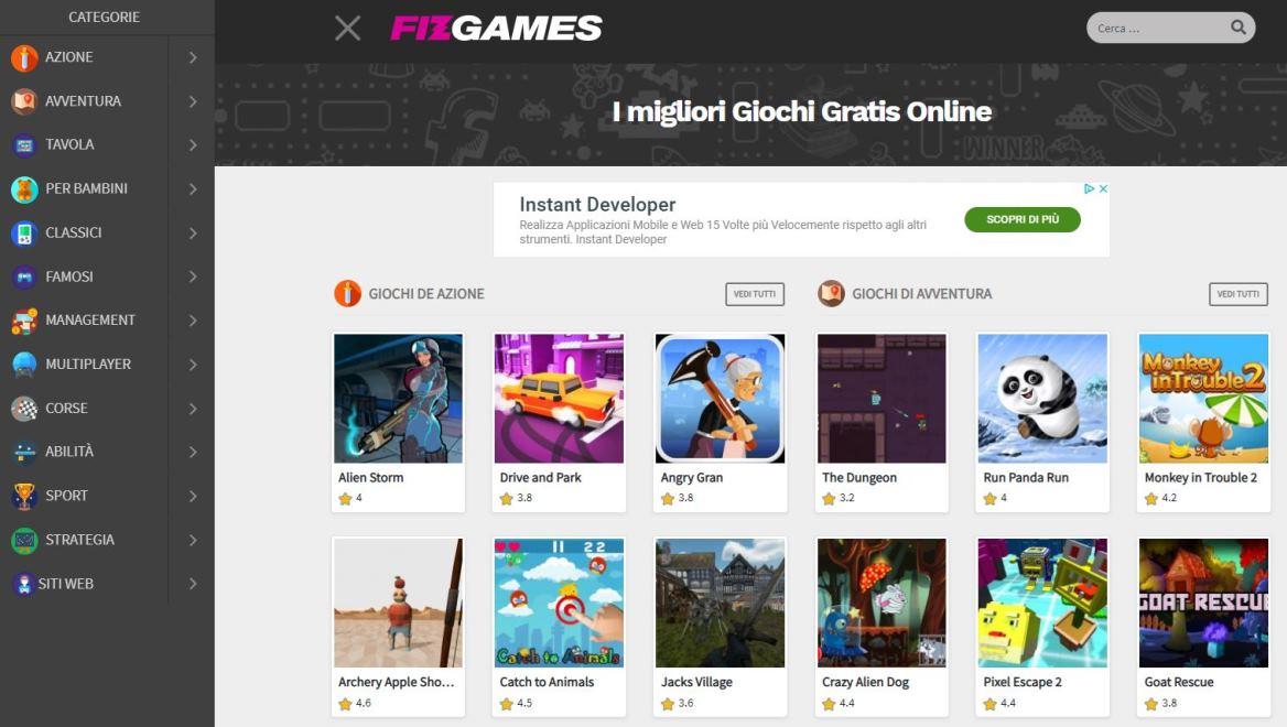 fizgames, sito dove trovare migliori giochi online gratis