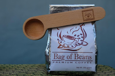 Wooden Coffee Scoop and Bag Clip
