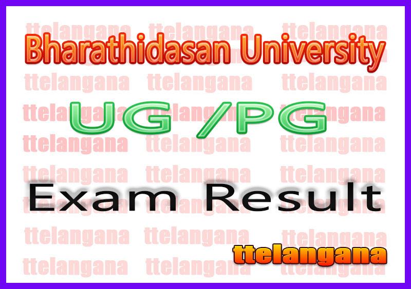 Bharathidasan University Exam Result 2020 UG PG Results