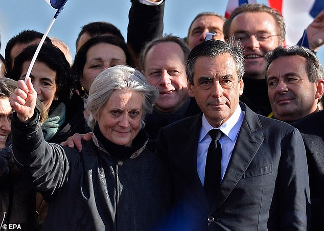 Former French Prime Minister Francois Fillon and his wife, Mrs. Penelope Fillon.