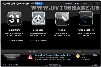Iobit Advanced Systemcare 5 1 Pro Full + Serial Key