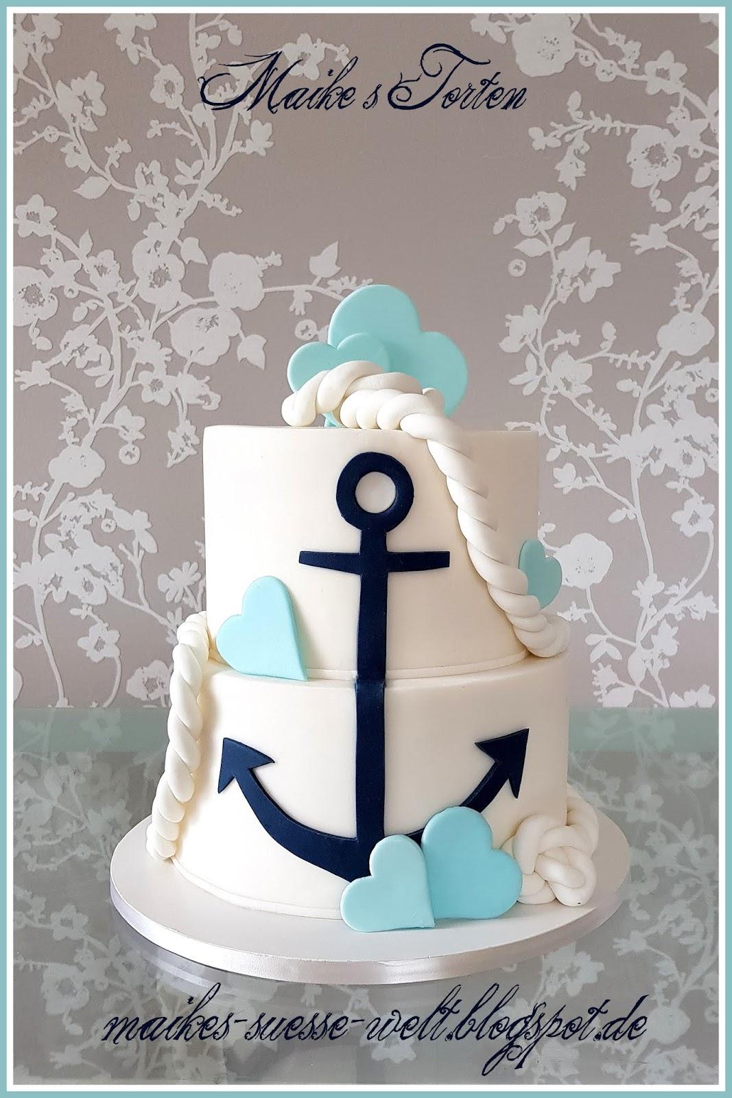 Maike S Susse Welt Maritime Hochzeitstorte