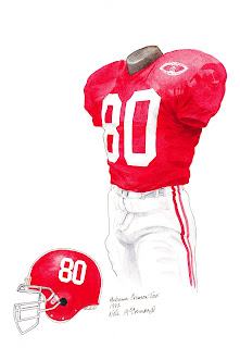 1992 Alabama Crimson Tide football uniform original art for sale