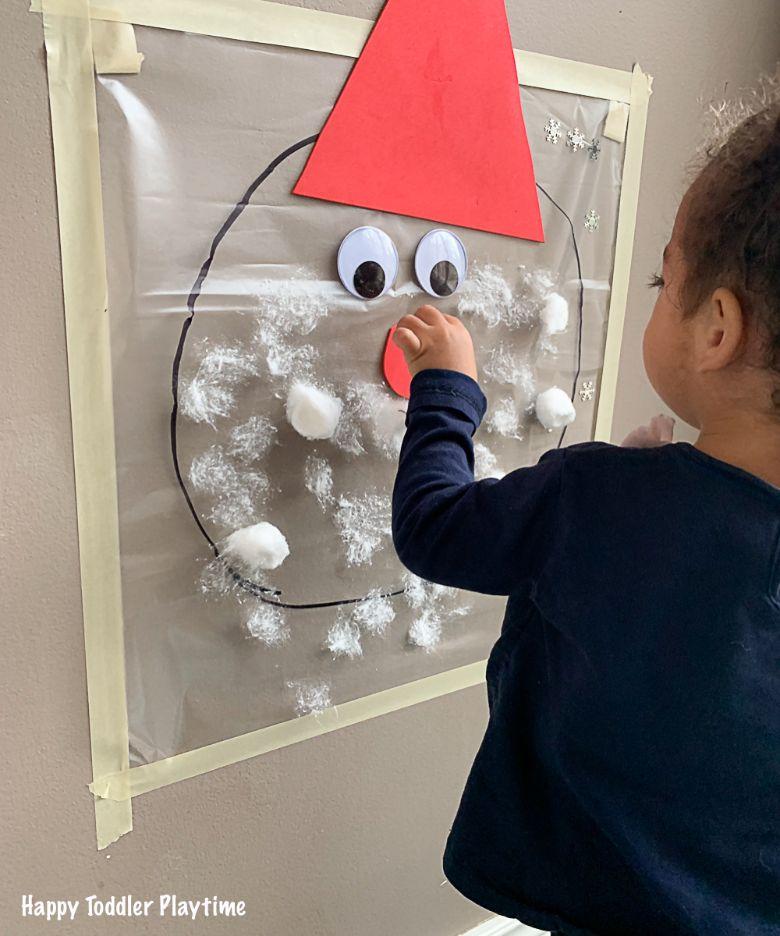 Santa sticky wall craft