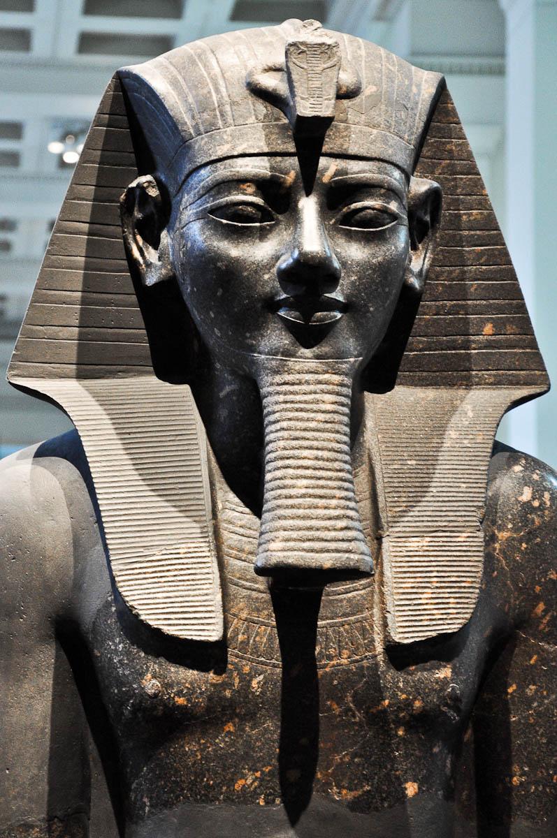 Egyptian statue, The British Museum, London, UK