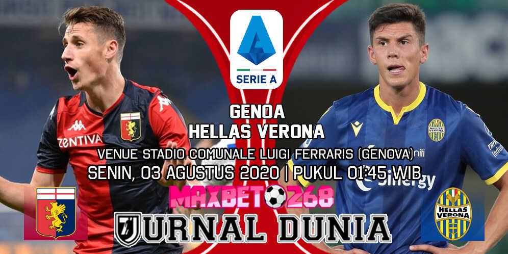 Prediksi Genoa vs Verona 03 Agustus 2020 Pukul 01:45 WIB