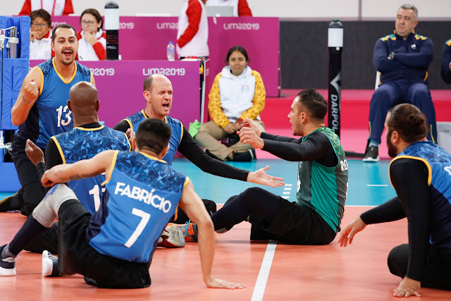 O Brasil conquistou o ouro no vôlei sentado