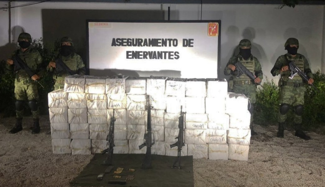 Soldados aseguran en Quintana Roo 1 tonelada de Cocaína valorada en 237 millones de pesos