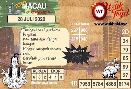 Prediksi Bangbona Toto Macau Selasa 28 Juli 2020