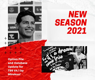 PES 2017 Option File Tauvic99 Patch V4.1 New Season 2020/2021