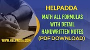 Class Notes Advance Math all formulas PDF (Most Important for SSC)