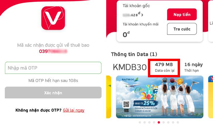 Nhận Data miễn phí từ việc tải ứng dụng My viettel