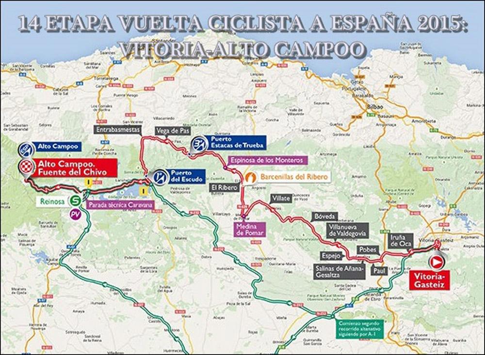 14 Etapa de la Vuelta Ciclista a España: Vitoria-Alto Campoo