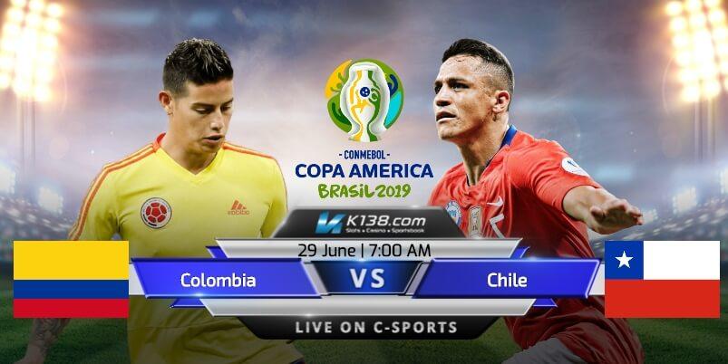 مشاهدة مباراة كولومبيا وتشيلي كوبا أمريكا 2019