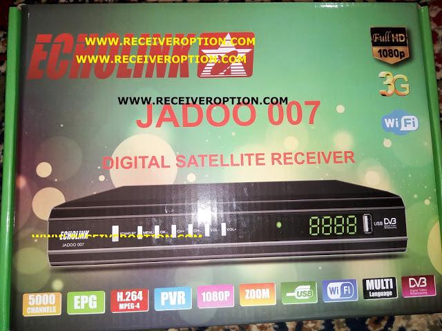 ECHOLINK JADOO 007 HD RECEIVER AUTO ROLL POWERVU KEY FIRMWARE NEW UPDATE