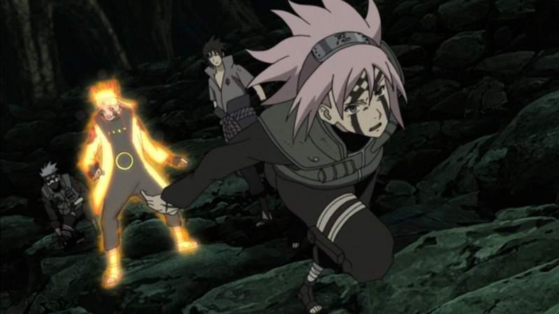 Sakura menyerang Madara