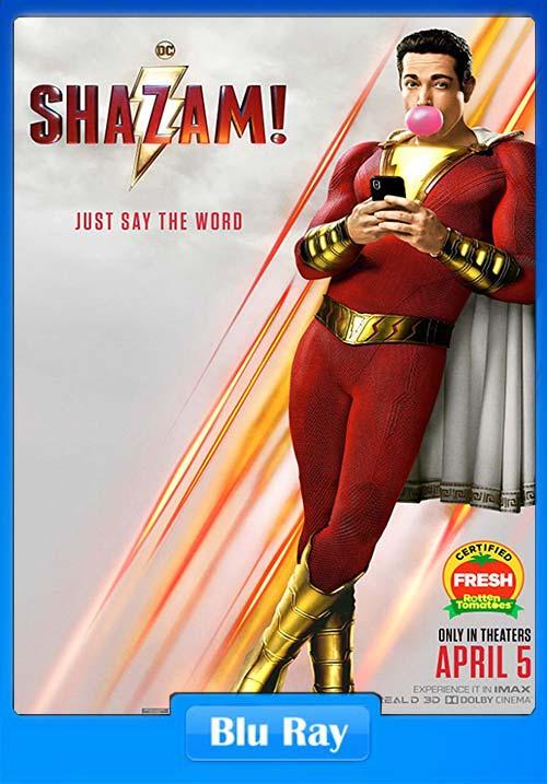 Shazam! 2019 BluRay 720p Telugu Tamil Hindi Eng x264 | 480p 300MB | 100MB HEVC Poster