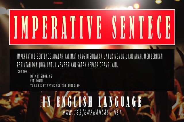 Pengertian imperative sentence dalam bahasa inggris