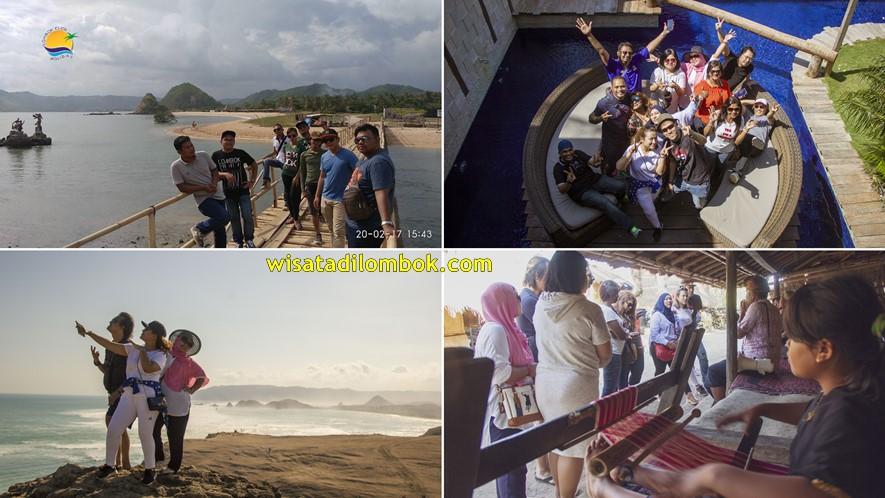 Mengunjungi Objek Wisata Kuta Mandalika Area