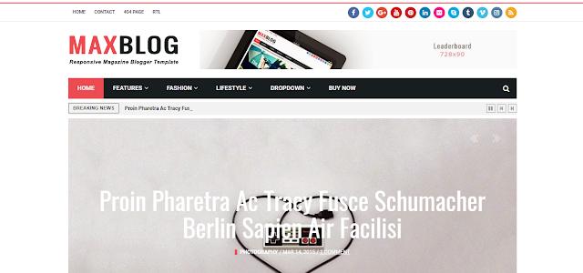 MaxBlog magazine website template