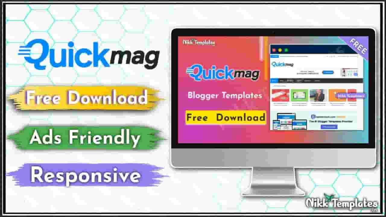 (Free) Quick Mag Magazine Blogger Template - Nikk Templates