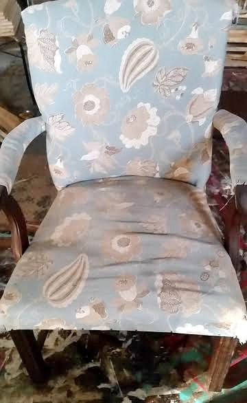 old antique upholstered chair
