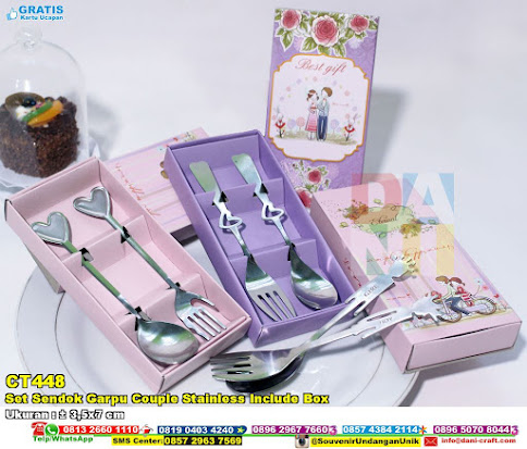 Set Sendok Garpu Couple Stainless Include Box