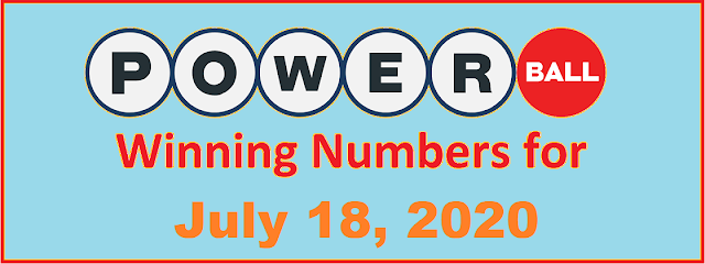 PowerBall Winning Numbers for Saturday, July 18, 2020