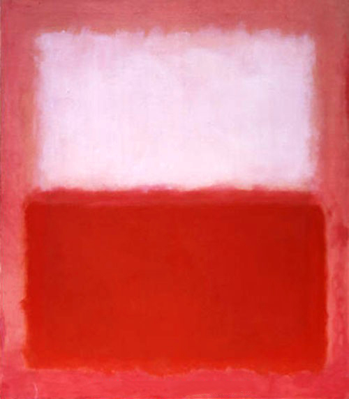 Painting, Red with White, oil painting by Mark Rothko, oil painting on canvas, Rouge