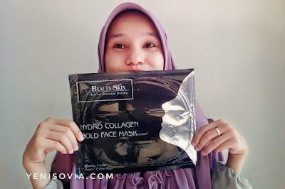 review beauty skin, hydro collagen golf face mask