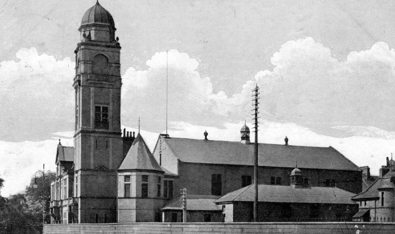 Tour Scotland: Old Photograph Town Hall Motherwell Scotland