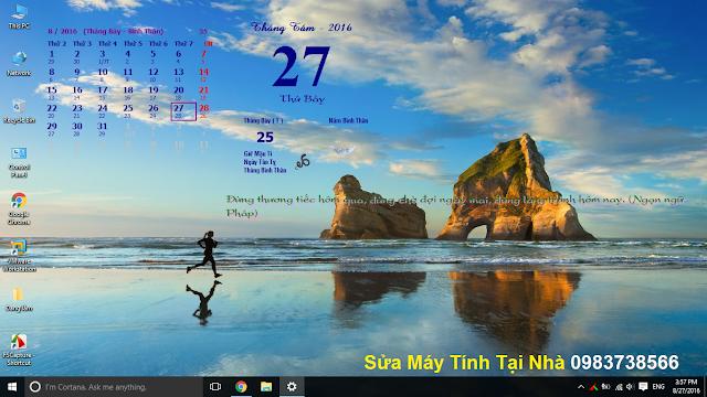 Lịch Vạn Niên xuất hiện trên màn hình Desktop