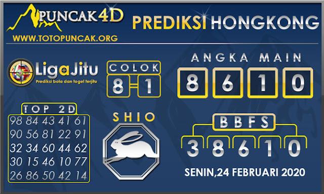 PREDIKSI TOGEL HONGKONG PUNCAK4D 24 FEBRUARI 2020