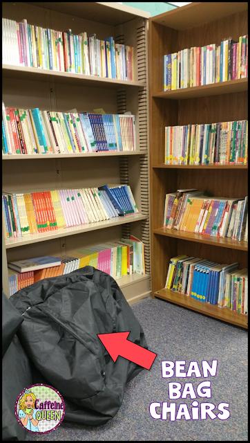 Classroom library prep for school