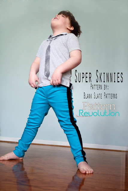 Super Skinny Pants pattern by Blank Slate Patterns sewn by Pattern Revolution