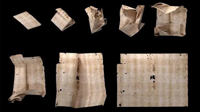 carta selada da Europa do século 17