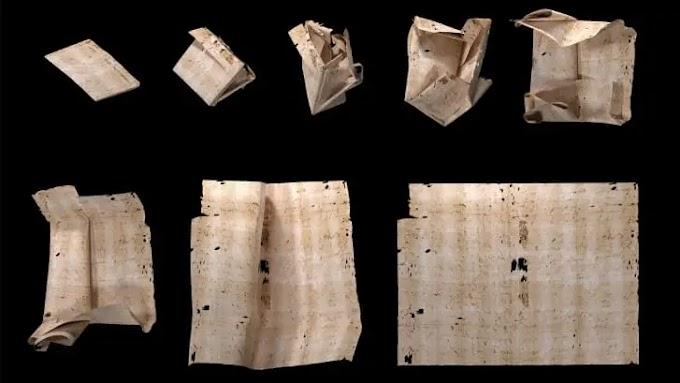 """Carta rara """"trancada"""" selada há 300 anos é finalmente aberta virtualmente"""