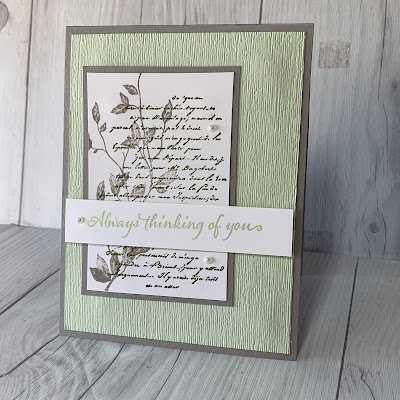Card Idea using Stampin' Up! Very Versailles Stamp Set