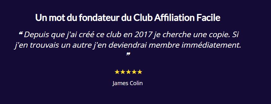Mot du fondateur Club d'Affiliation Facile