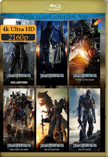 Transformers (2007-2017) Saga en 4K HDR [4K 2160p HDR] [Latino-Inglés] [LaPipiotaHD]