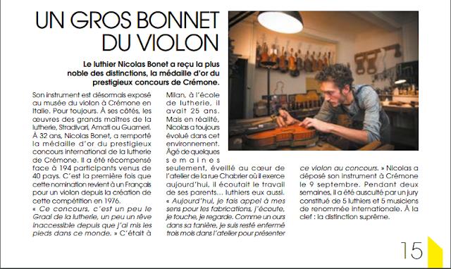 Médaille d'or Concours International Triennal Crémone - Antonio Stradivari