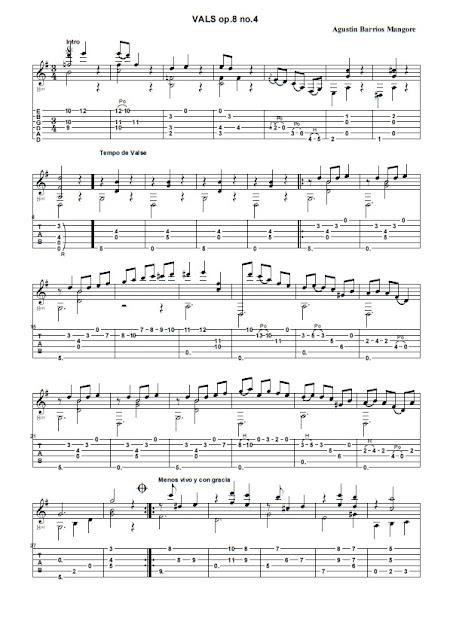 Agustin Barrios Mangore - Vals op.8 n.4