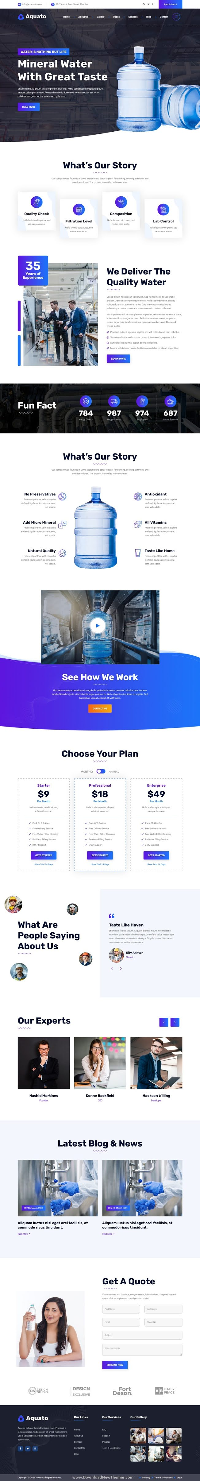 Drinking Water Delivery Bootstrap Template