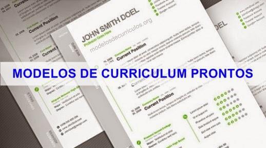 Modelos De Curriculum Prontos Para Preencher Modelos De Curriculos