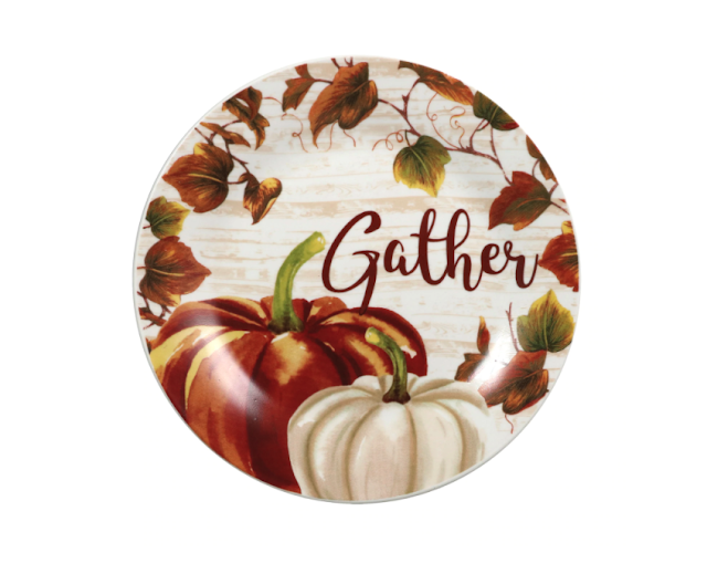 Royal Norfolk Fall Themed Pumpkin Plates