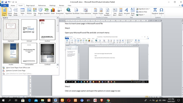 How to make cover page | How to make title page | Microsoft word document