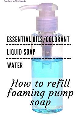 Foaming pump soap refill instructions.