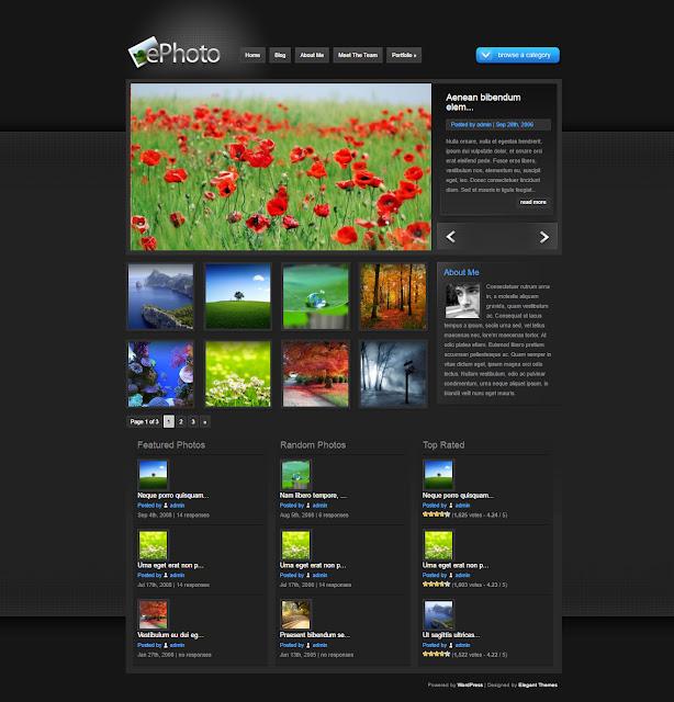 ePhoto- Wordpress Theme for Online Photo gallery