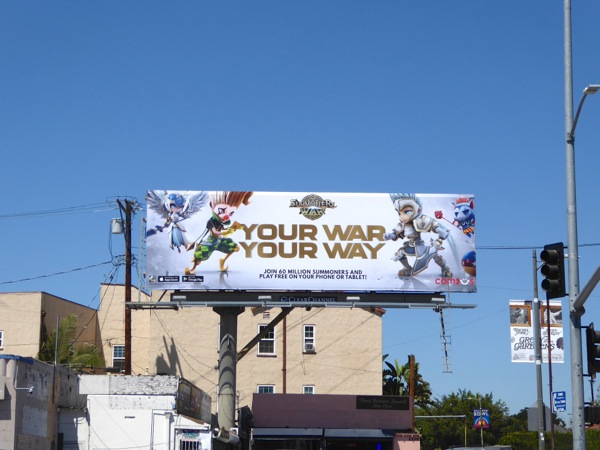 Summoners War game billboard