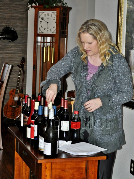 setting out the wines